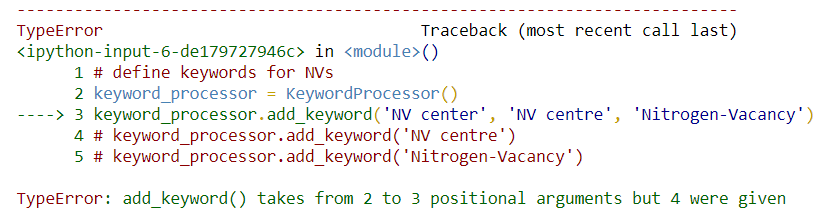 add_keyword() takes from 2 to 3 positional arguments but 4