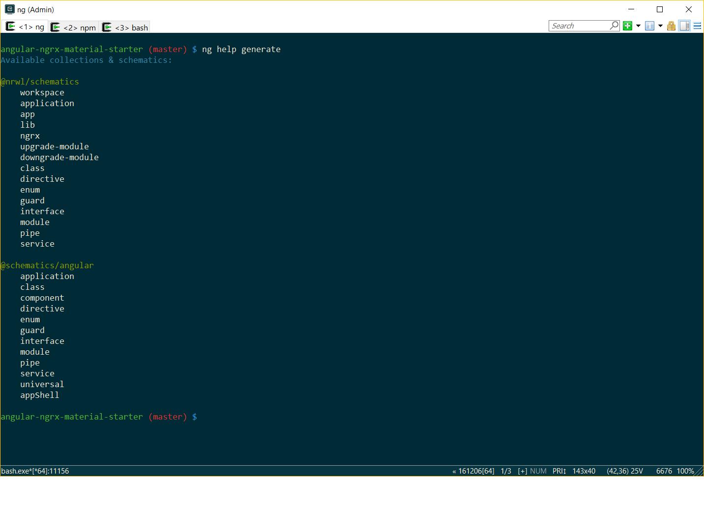 angular cli generate
