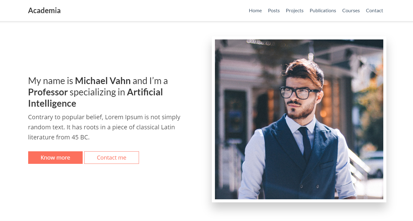 Liva Blog template by themefisher