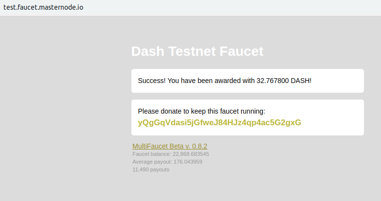 Dash 12 3 14 does not receive funds in testnet · Issue #2574