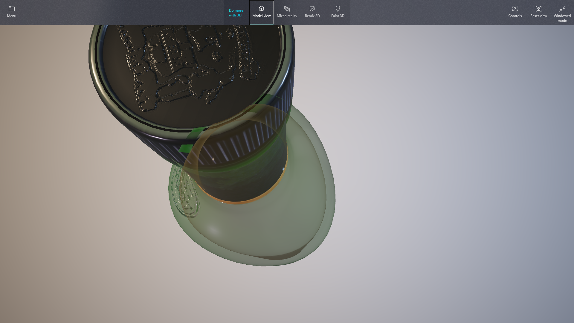 Cannot see glass transparency on GLTF 3D model · Issue #13889