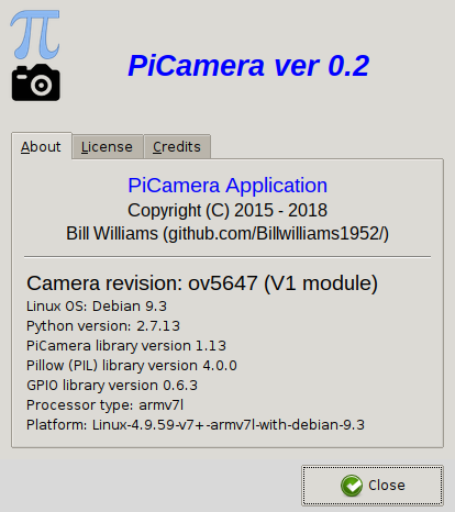 GitHub - Billwilliams1952/PiCameraApp: A graphical interface