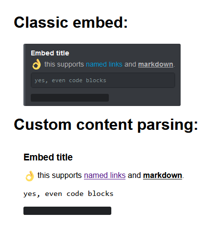 Embed preview