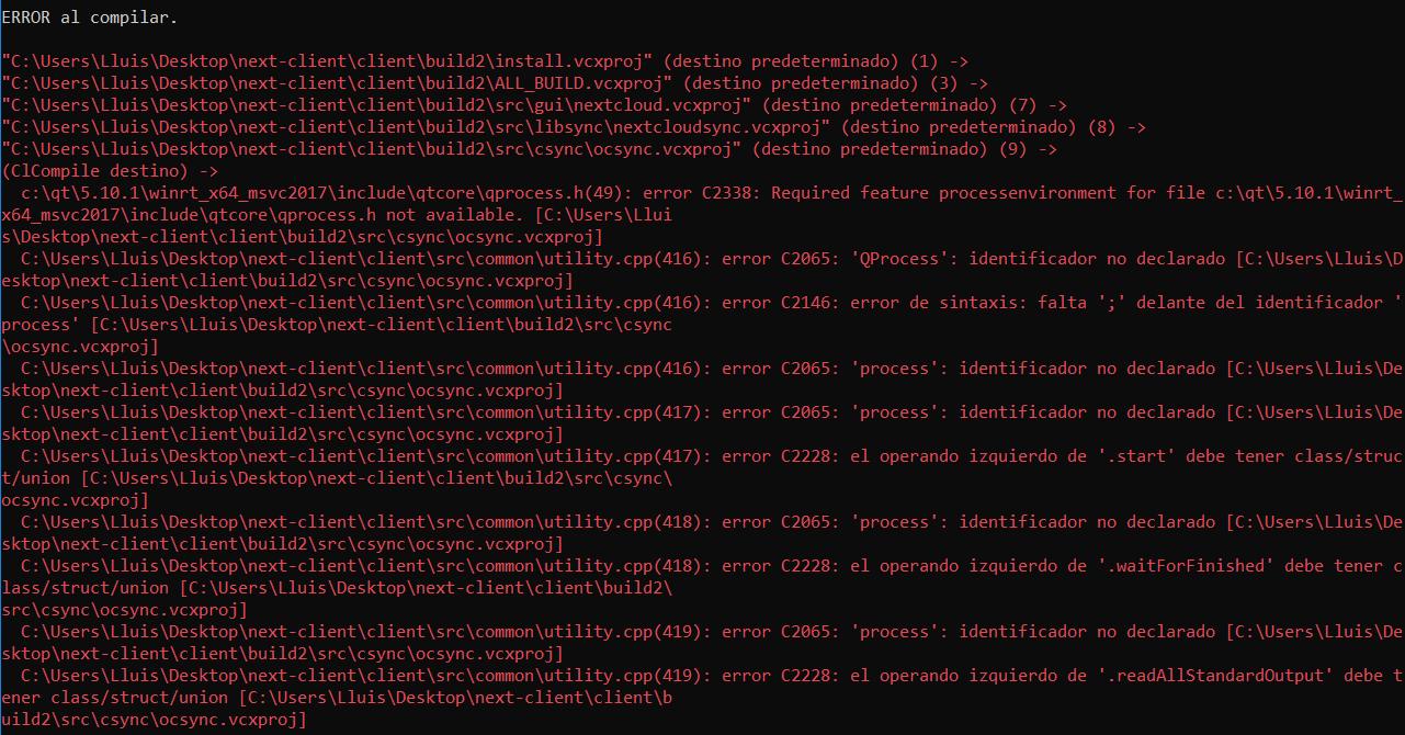 Windows Compilation · Issue #426 · nextcloud/desktop · GitHub