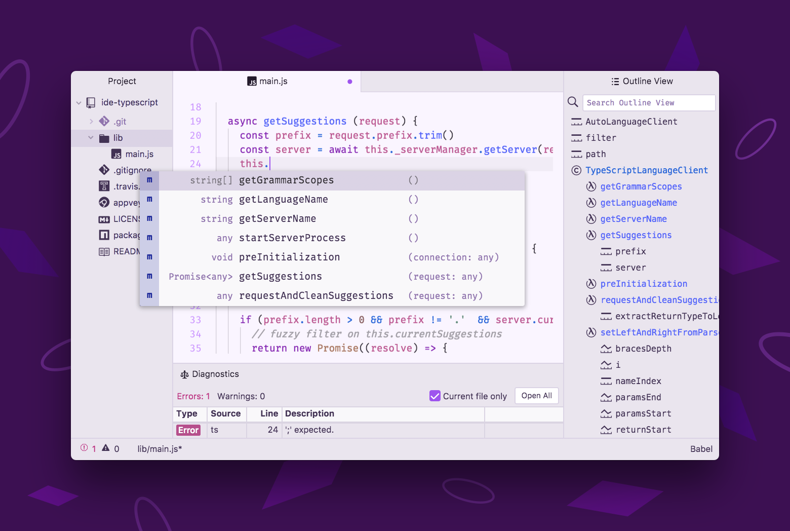 Atom IDE Screenshot
