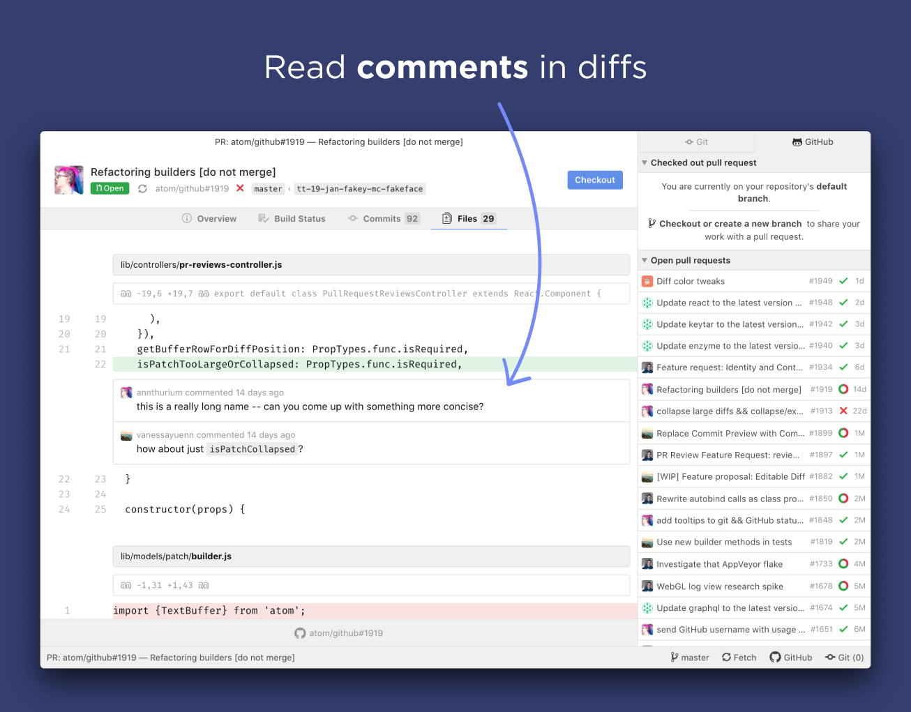 pull requests comments