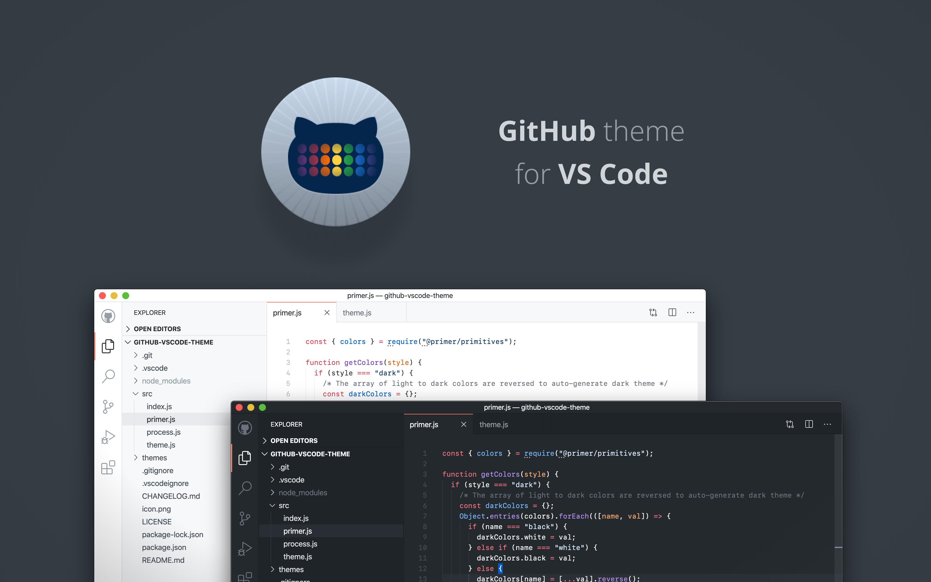GitHub VS Code theme