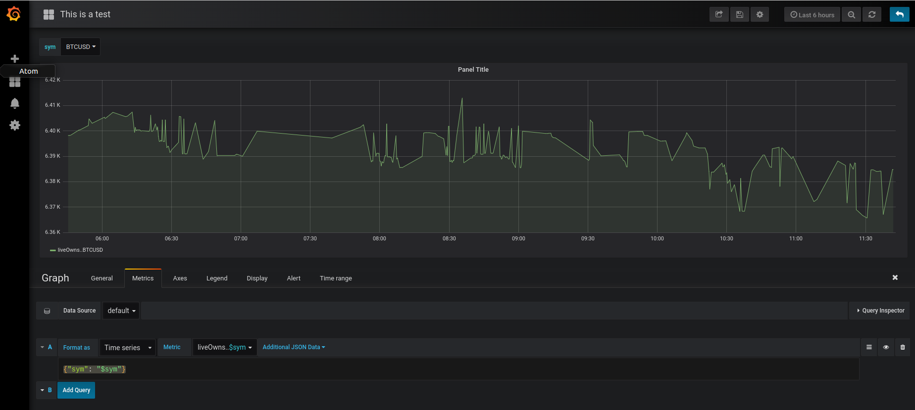 Passing Variables To JSON Field · Issue #11 · simPod/grafana-json