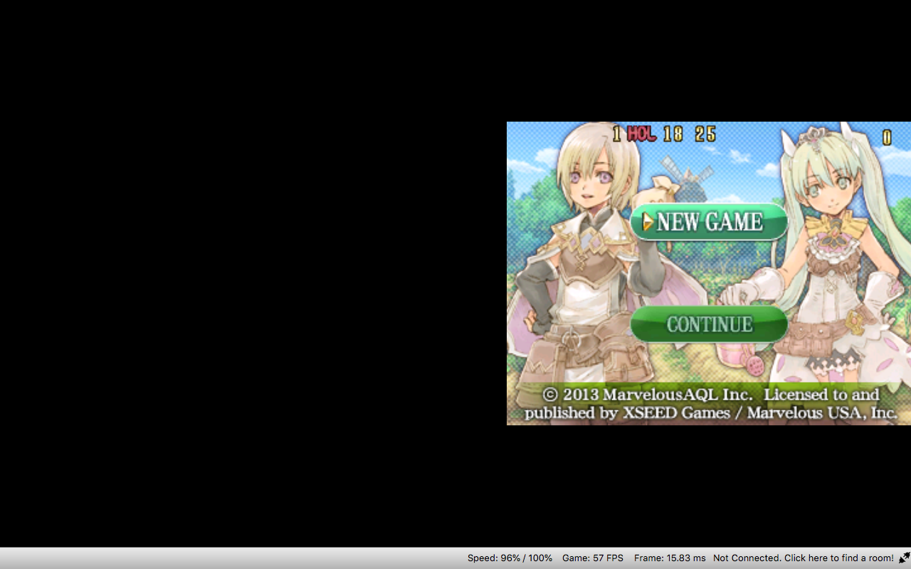 Rune Factory 4] Black Screen Issue on Mac · Issue #3835
