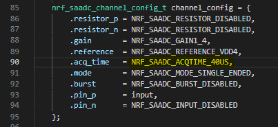 API] Request API change configure ADC sampling time · Issue #4692