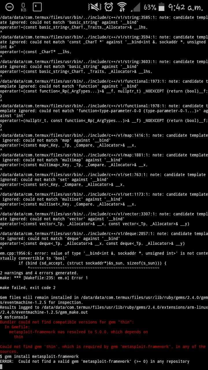 Metasploit-framework error · Issue #641 · termux/termux-app · GitHub