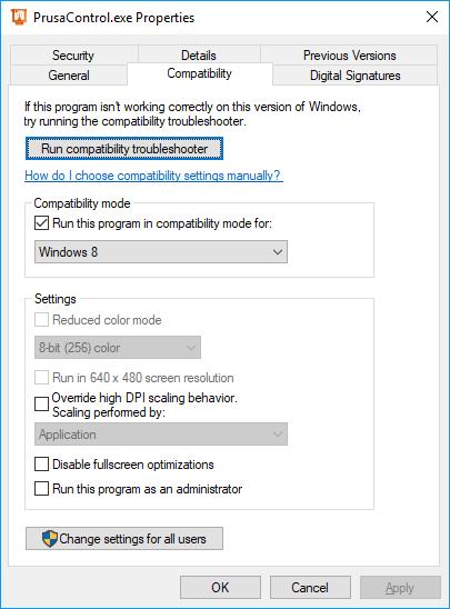 PrusaControl 0 9 4_415_beta (Not Responding) · Issue #64