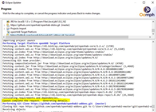 Eclipse openHAB development IDE setup fails · Issue #677