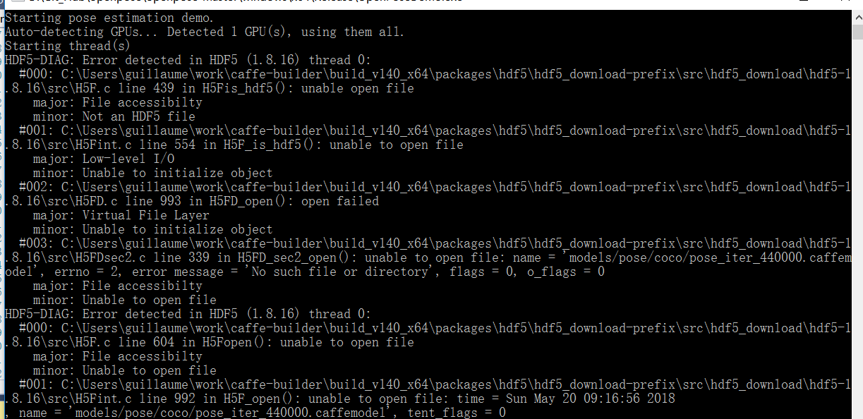 HDF5 - Caffemodel issue when running · Issue #601 · CMU-Perceptual