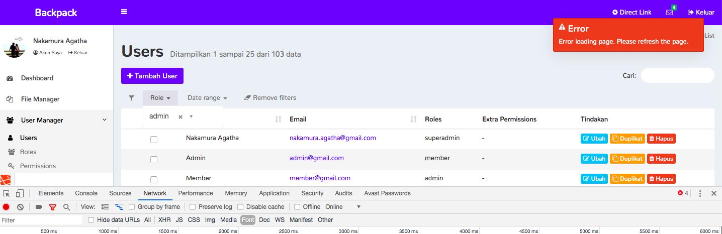 Filter Error 500 · Issue #1846 · Laravel-Backpack/CRUD · GitHub