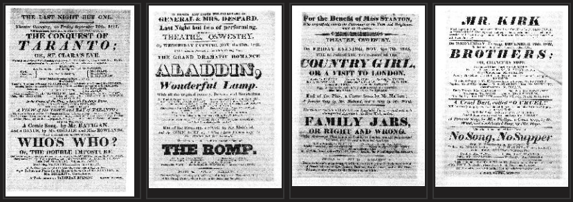 Screenshot of sample playbills