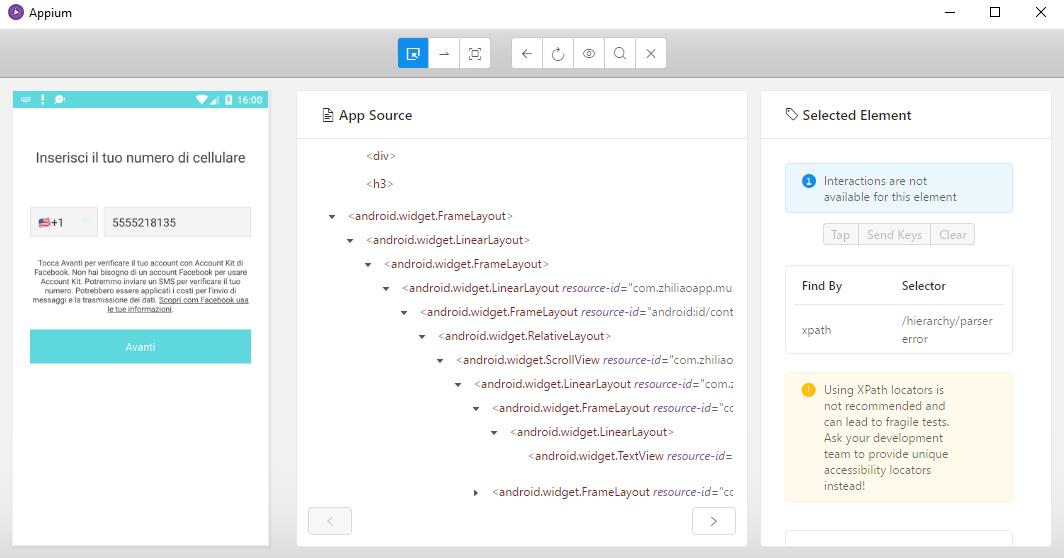 parsererror> on musical.ly app · Issue #485 · appium/appium-desktop ...