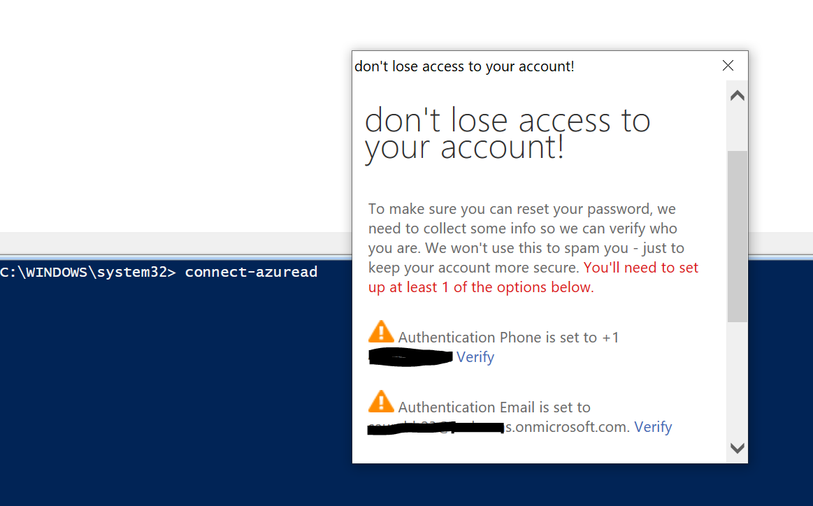 Azure PowerShell appears to not be included in conditional access