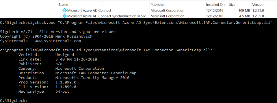 1 2 68 0 contains unsigned dlls · Issue #20333 · MicrosoftDocs/azure