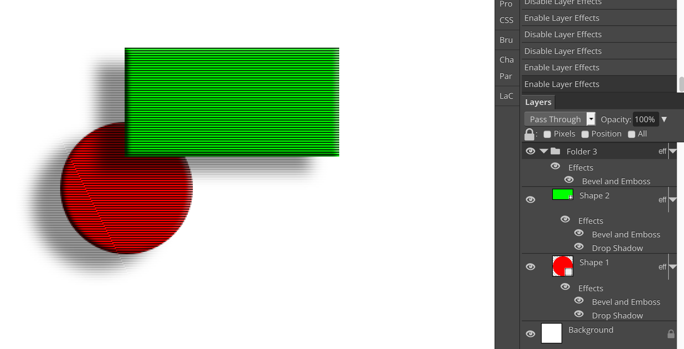 BUG in rendering effects using layer style on folder · Issue