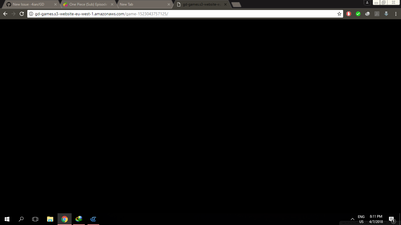 HTML5 games showing just black screen · Issue #460 · 4ian
