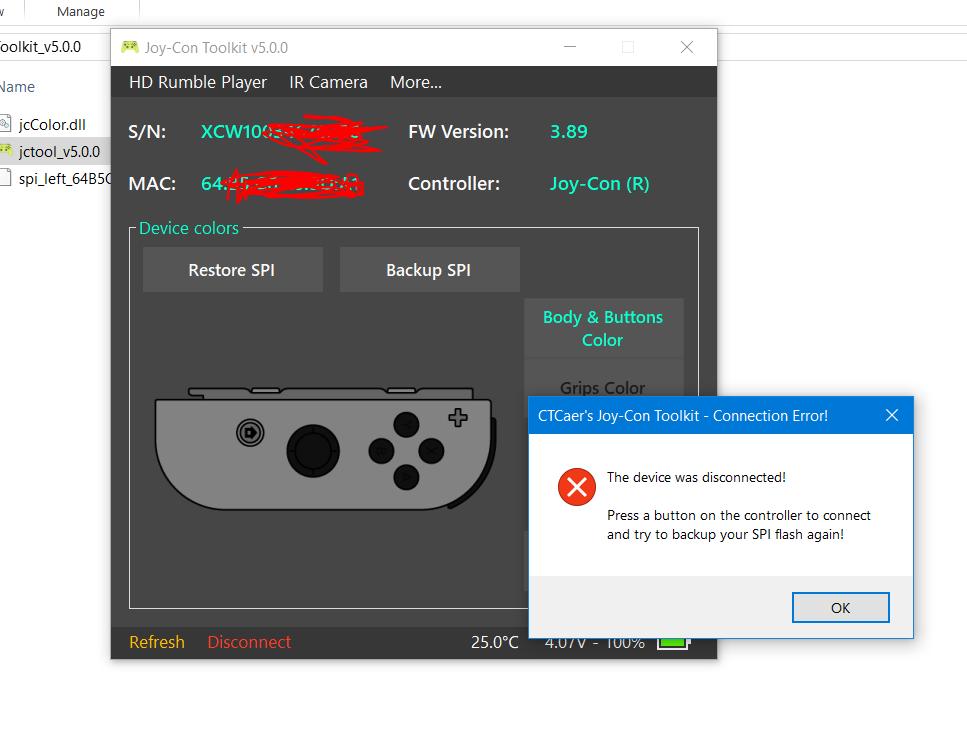 Joycon Driver Error