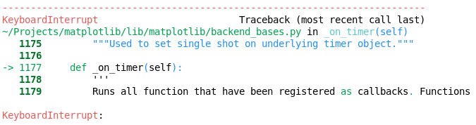Can't interrupt start_event_loop() at backend_qt5 py::FigureCanvasQt