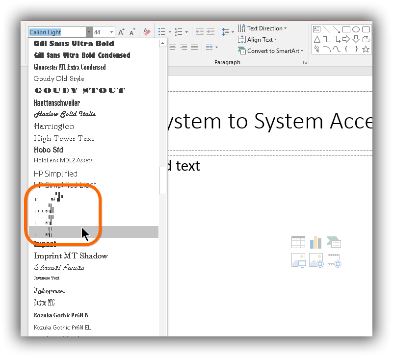 Preview on Windows 10 in PowerPoint 2016 is a mess · Issue
