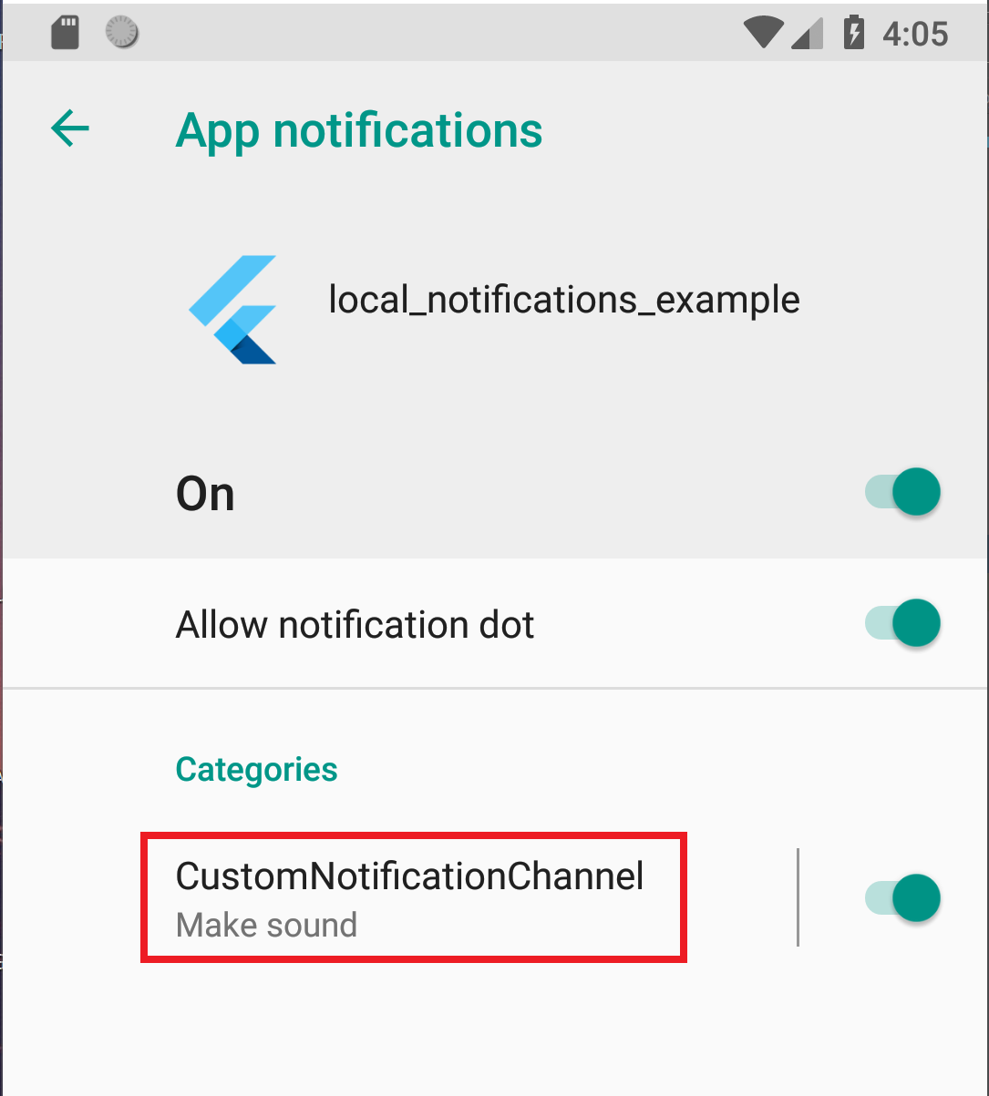 Android Notifications not showing, iOS showing correctly
