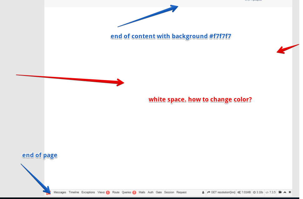 page pdf: how to change finish space background color to non