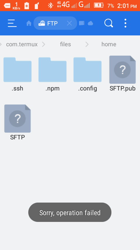 FTP Client has only read access  · Issue #857 · termux