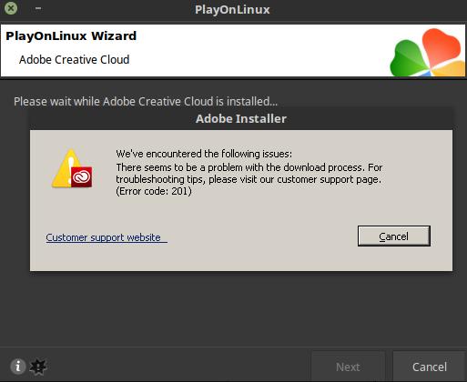 Installer error/Unable to reach Adobe servers · Issue #49