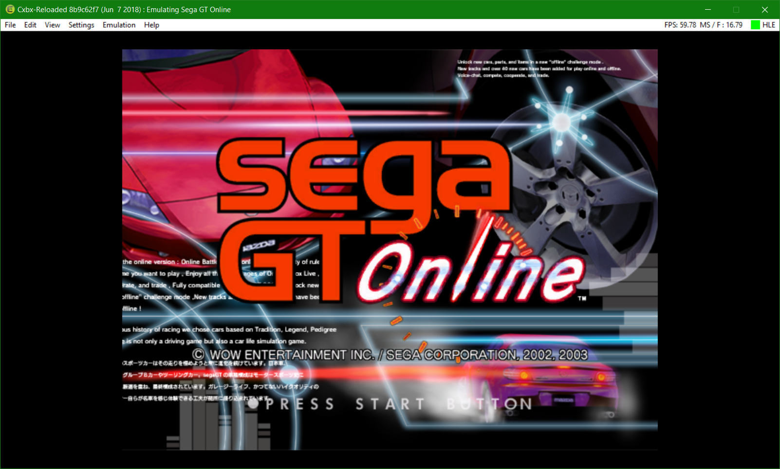 Sega GT Online [53450021] · Issue #789 · Cxbx-Reloaded/game