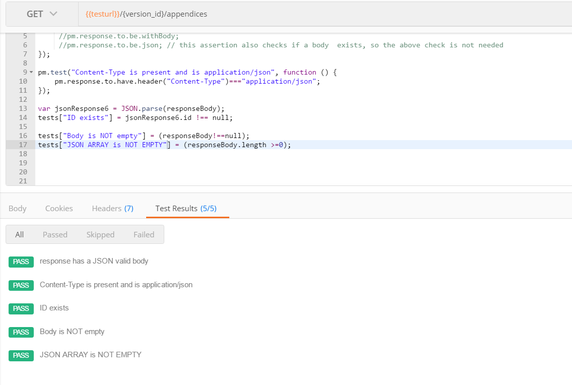 Check if the response is NOT EMPTY · Issue #4563