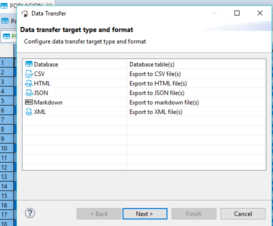 Export resultset to SQL INSERT statements (4 3+ versions