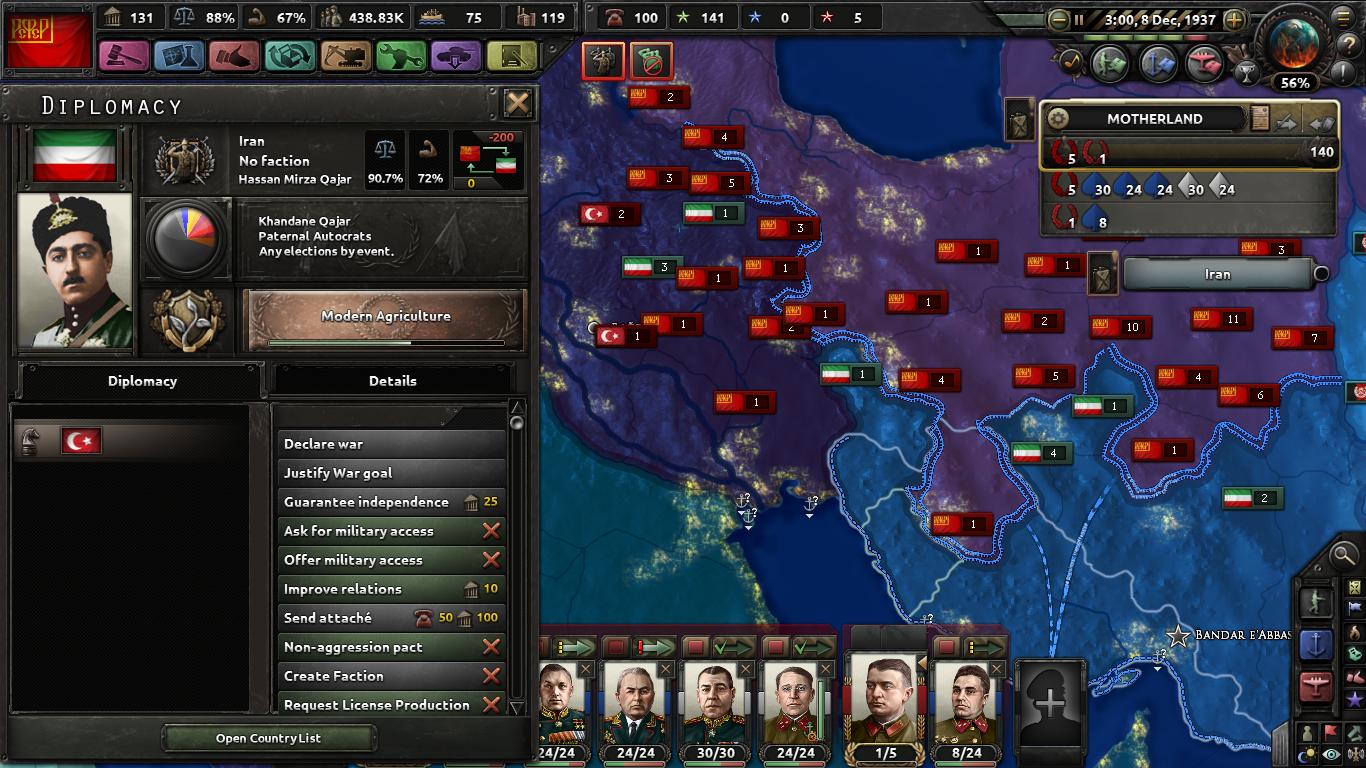 Soviet-Iran War Breaking Bug, Ottoman's Puppet + Annex
