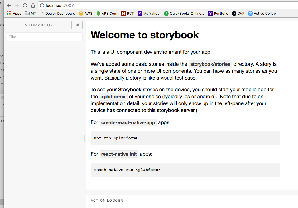 Storybook does not show any stories · Issue #1163