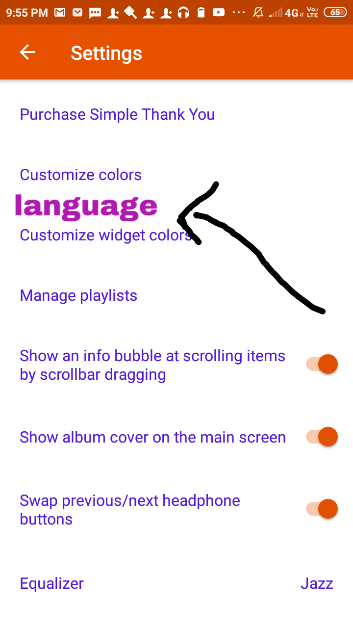 Add online music and language option to simple music player