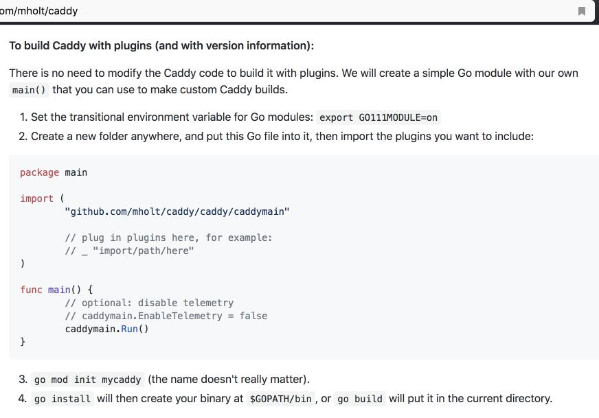 Caddy build fails · Issue #2549 · caddyserver/caddy · GitHub