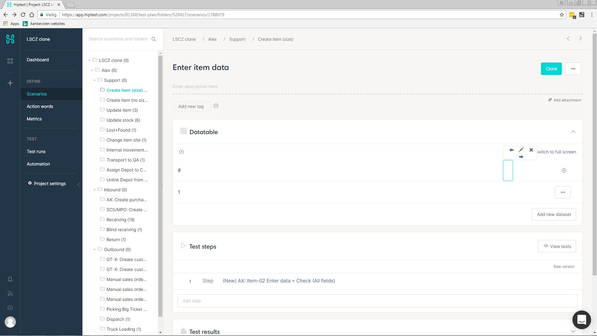 Datatable: parameter name per row / iteration per column · Issue
