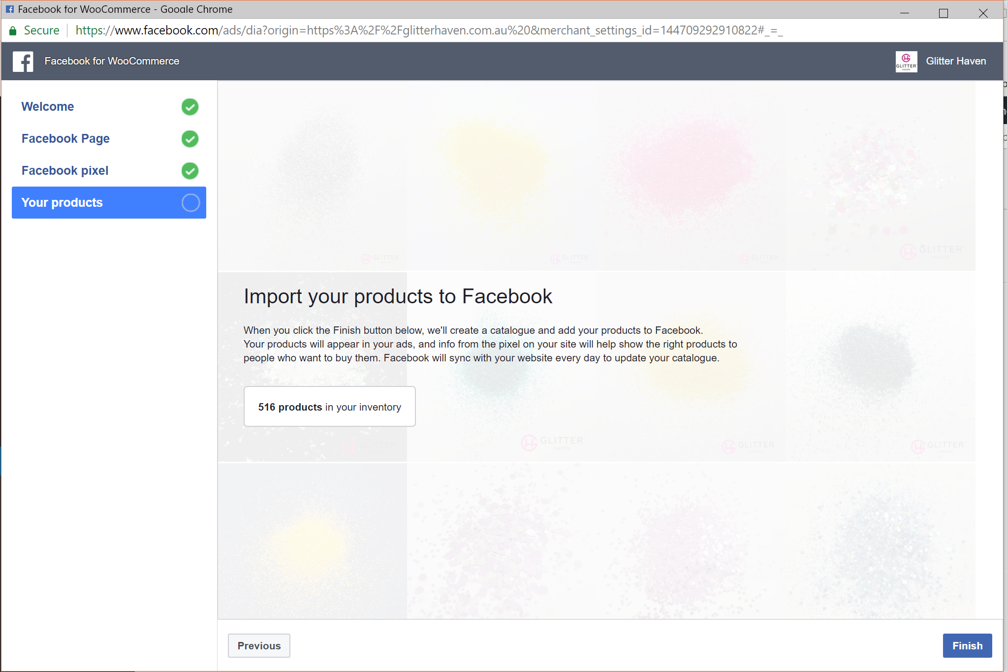 No add products to a facebook shop button · Issue #486