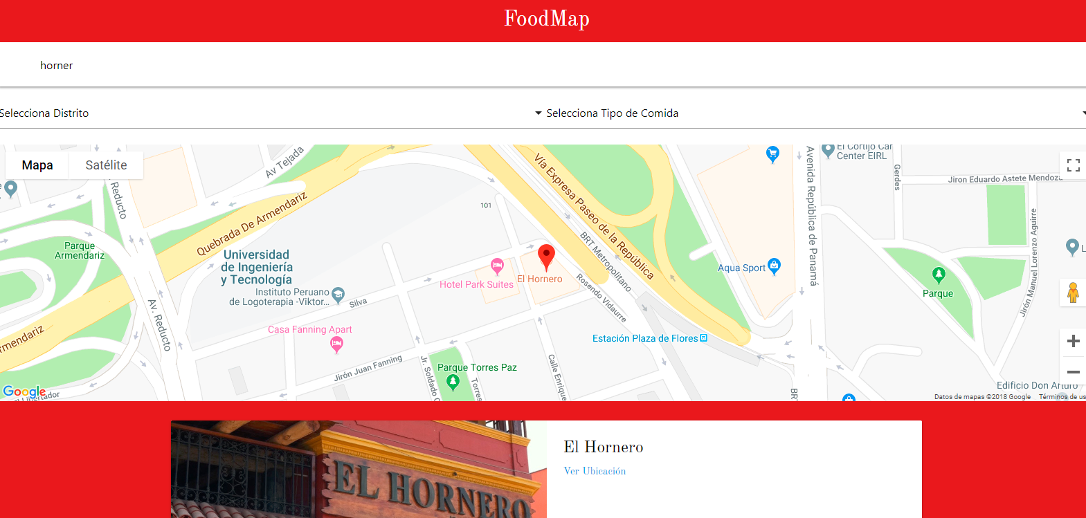 Favorite FoodMap