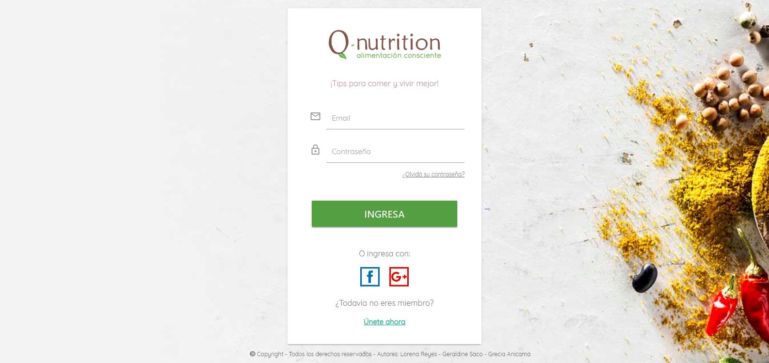 Red Social Q-Nutrition