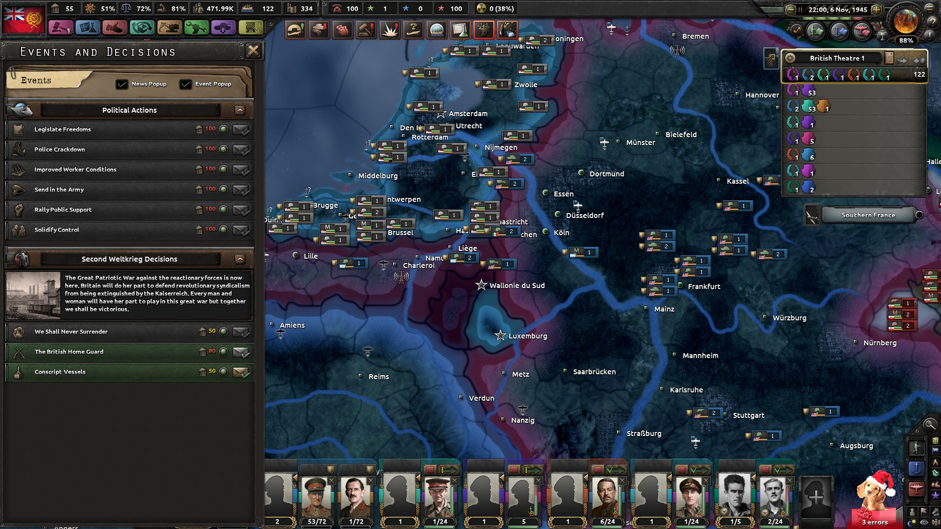 Britains Wacky AI and the equally wacky Conquest of Germany