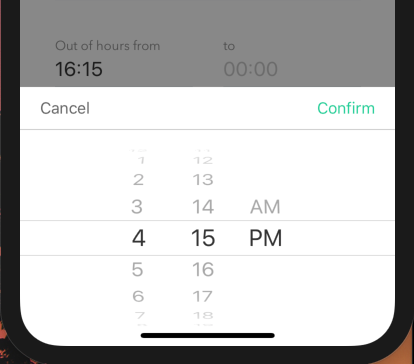 Time format is not sync in iOS datepicker and display