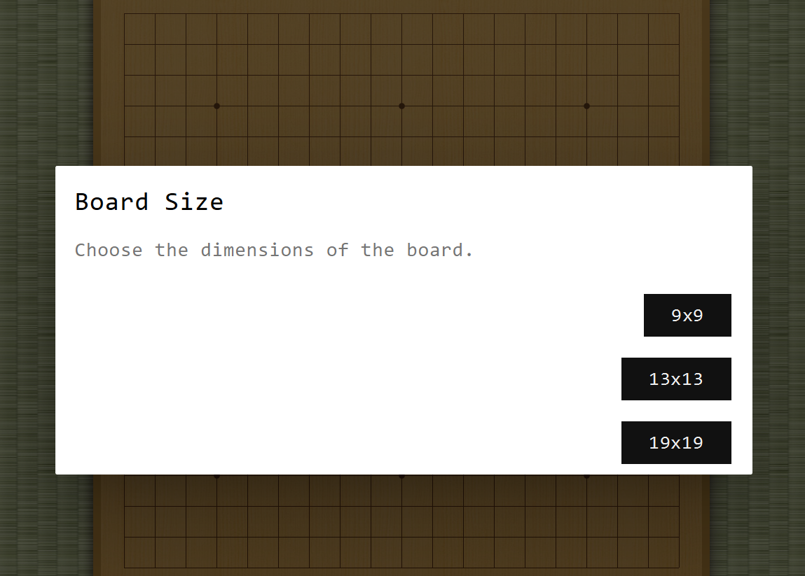 Board Size Options