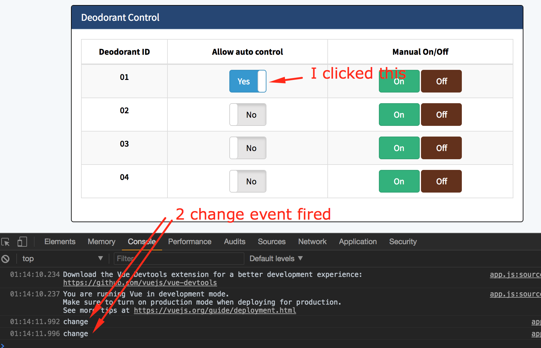 Got 2 change event when use @input to detect change · Issue