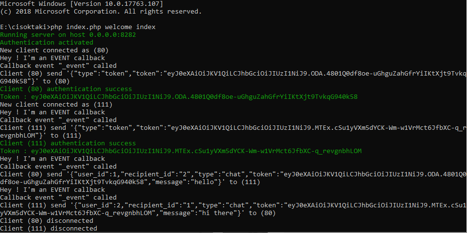 takielias/codeigniter-websocket - Packagist
