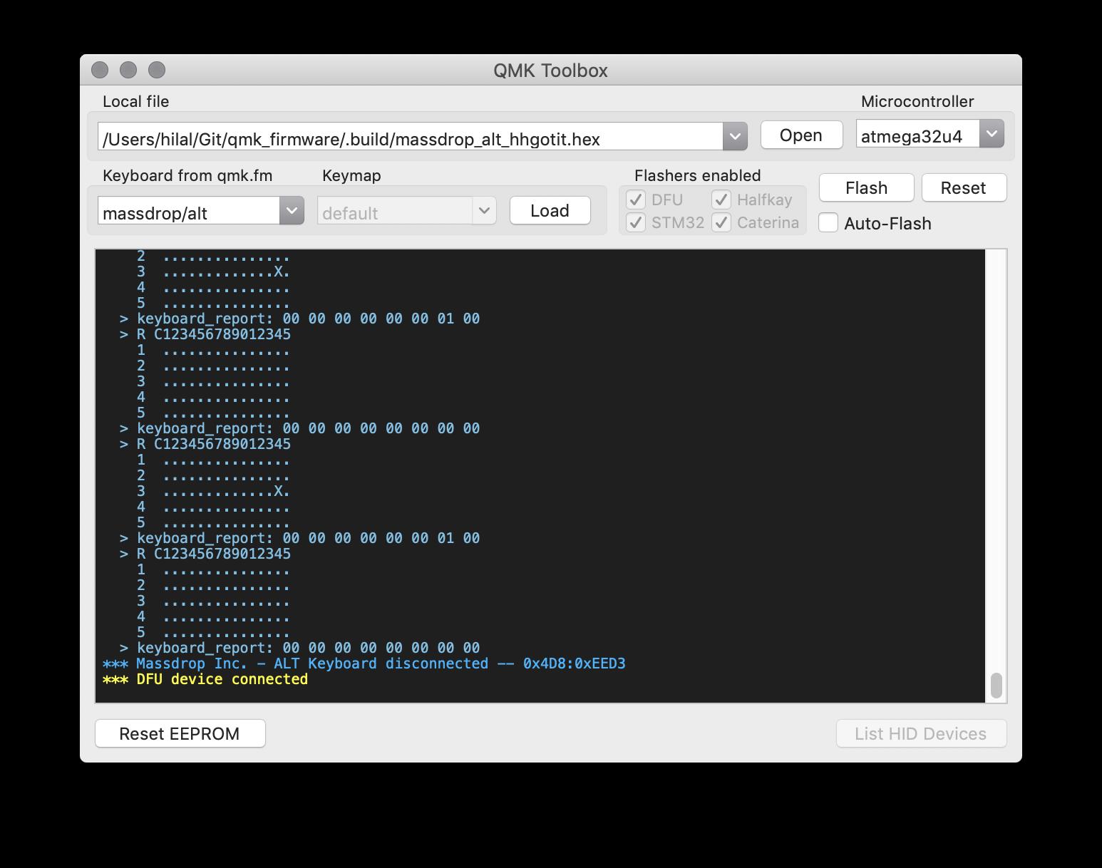 Massdrop ALT reboots into DFU mode randomly with #5619