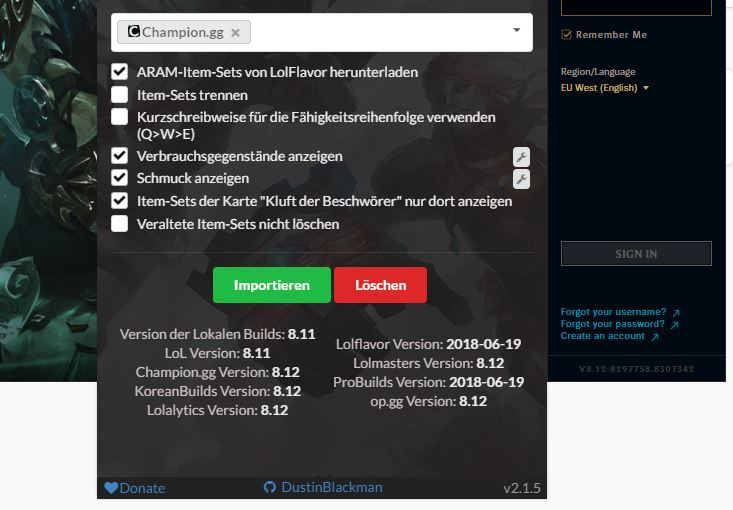 niskie ceny wiele kolorów niższa cena z Champion.gg and incorrect LoL version build download issues ...